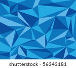 blue diamonds and facets | Shutterstock .eps vector #56343181