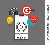 social media marketing icon...   Shutterstock .eps vector #563431825
