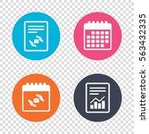 report document  calendar icons.... | Shutterstock . vector #563432335