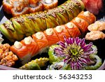 sushi and rolls | Shutterstock . vector #56343253
