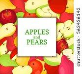 the square white frame on ripe... | Shutterstock .eps vector #563436142
