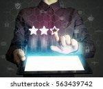 concept of online rating....   Shutterstock . vector #563439742