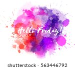 watercolor imitation... | Shutterstock .eps vector #563446792