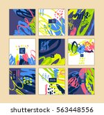 set of artistic creative cards... | Shutterstock .eps vector #563448556
