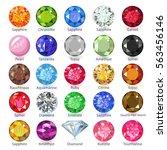 gems naming chart infographics  ... | Shutterstock .eps vector #563456146