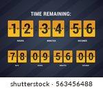 time remaining illustration.... | Shutterstock .eps vector #563456488