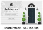elements of architecture  ... | Shutterstock .eps vector #563456785