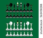 illustration of  black and... | Shutterstock .eps vector #563458288