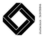 penrose square in black | Shutterstock .eps vector #563458846
