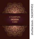 banner with steampunk design... | Shutterstock .eps vector #563459452