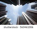 hong kong apartment buildings | Shutterstock . vector #563461006
