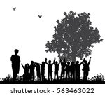vector silhouette of the... | Shutterstock .eps vector #563463022