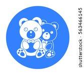 bears icon in black style...   Shutterstock .eps vector #563466145
