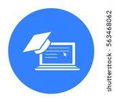 laptop icon black. single...
