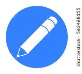 pencil icon black. single... | Shutterstock .eps vector #563468155