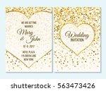 wedding invitation  thank you... | Shutterstock .eps vector #563473426