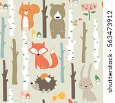 Forest Seamless Background Wit...
