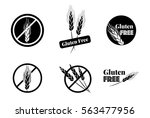 vector set of six gluten free...