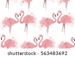 seamless texture with delicate... | Shutterstock .eps vector #563483692