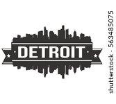 detroit silhouette skyline stamp | Shutterstock .eps vector #563485075