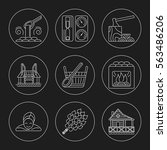 set of editable stroke vector... | Shutterstock .eps vector #563486206