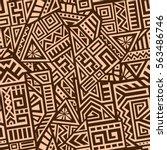 unique geometric vector... | Shutterstock .eps vector #563486746