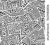 unique geometric vector... | Shutterstock .eps vector #563486806