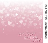 greeting card with a pink... | Shutterstock .eps vector #563487142