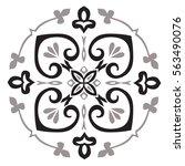 hand drawing pattern for tile... | Shutterstock .eps vector #563490076