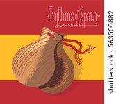 spanish castanets vector... | Shutterstock .eps vector #563500882