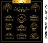 vector set of vintage banners ... | Shutterstock .eps vector #563504092