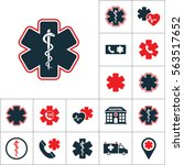 life star snake icon  medical... | Shutterstock .eps vector #563517652