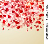 valentine's day light  vector... | Shutterstock .eps vector #563524402