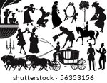old fashioned silhouettes | Shutterstock .eps vector #56353156