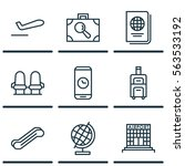 set of 9 traveling icons.... | Shutterstock .eps vector #563533192
