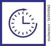 clock icon. | Shutterstock .eps vector #563543062
