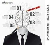 infographic template. brain... | Shutterstock .eps vector #563545216