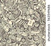 cartoon cute doodles hand drawn ... | Shutterstock .eps vector #563549686
