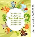 animal card | Shutterstock .eps vector #56355223