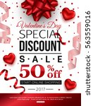 valentines day special discount ... | Shutterstock .eps vector #563559016
