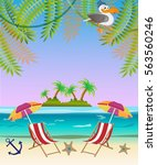 sea background  sea  beach ... | Shutterstock .eps vector #563560246