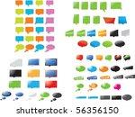 speech bubbles | Shutterstock .eps vector #56356150