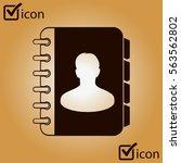 address book icon vector. flat...