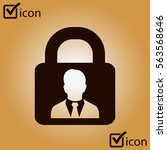 user login or authenticate icon....
