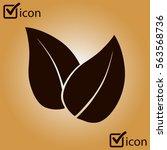leaf icon. fresh natural...