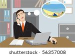 the businessman dreams of... | Shutterstock . vector #56357008