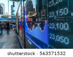 stock index numbers with city...   Shutterstock . vector #563571532