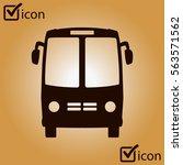 bus icon. schoolbus symbol.... | Shutterstock .eps vector #563571562