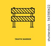 traffic barrier vector icon.... | Shutterstock .eps vector #563580622