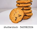 oatmeal raisin cookies. ...   Shutterstock . vector #563582326